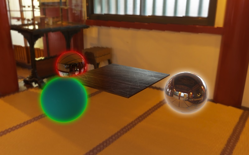 WebGL scene for standard rendering pipeline demo