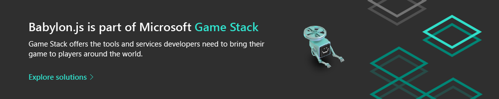 Babylon.js is part of Microsoft Game Stack. Game Stack offers the tools and services developers need to bring their game to players around the world. Explore Solutions.